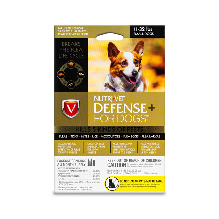 Defense+ Flea and Tick for Small Dogs - Front