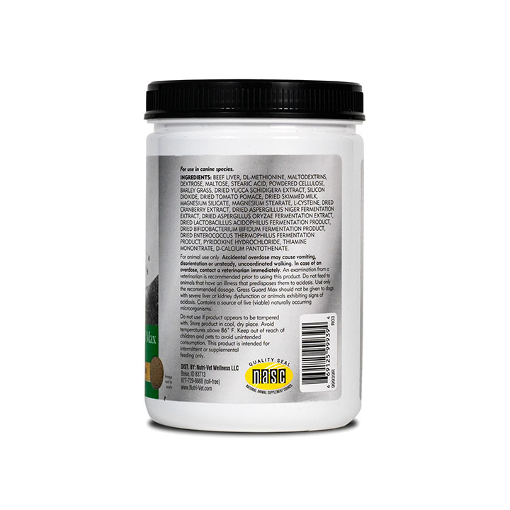Grass Guard Max Chewable Tablets - Back